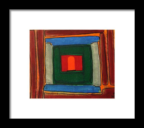 Inner View Of Temple Framed Print featuring the painting Sanctum Sanctorium by Vijayan Kannampilly