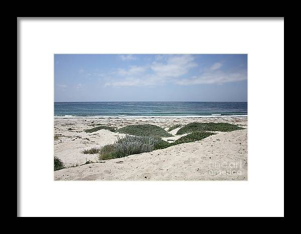 Sandy Beach Framed Print featuring the photograph Sand And Sea by Carol Groenen