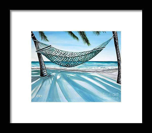 Landscape Framed Print featuring the painting Sand And Shadows by Elizabeth Robinette Tyndall