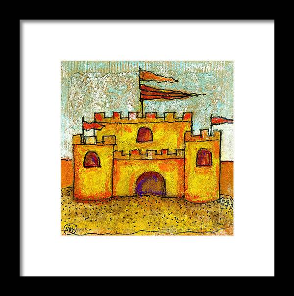 Castle Framed Print featuring the drawing Sand Castle by Mary Hanrahan