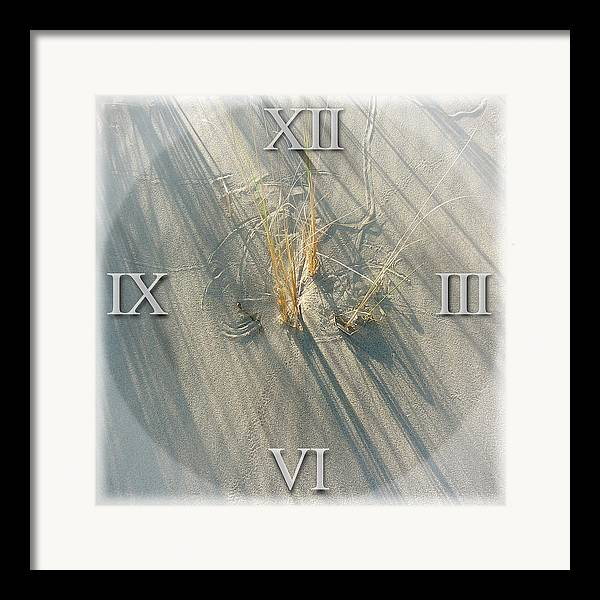 Sand Framed Print featuring the photograph Sand Dial by Bob Bennett