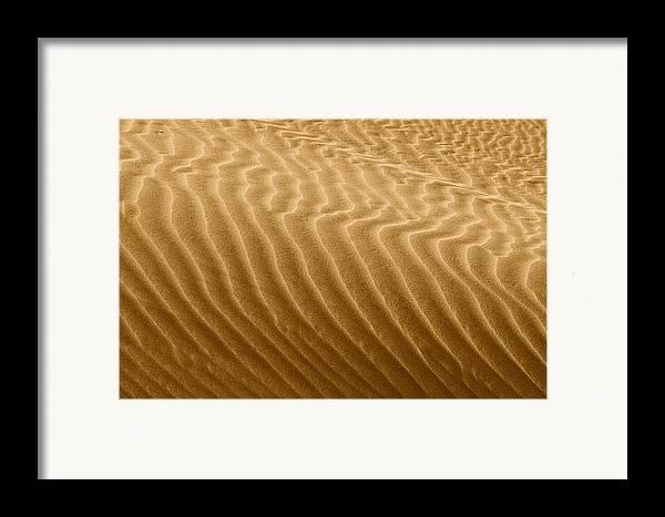 Sand Framed Print featuring the photograph Sand Dune Mojave Desert California by Christine Till