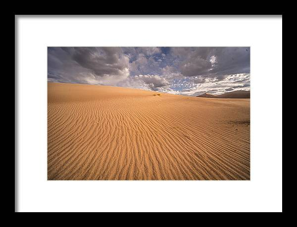Sand Framed Print featuring the photograph Sand Dunes by Michael Just