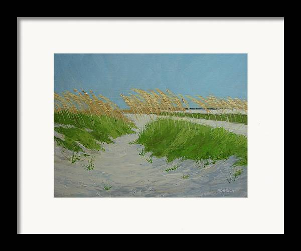Ocean Dunes Framed Print featuring the painting Sand Dunes No 1 by Robert Rohrich