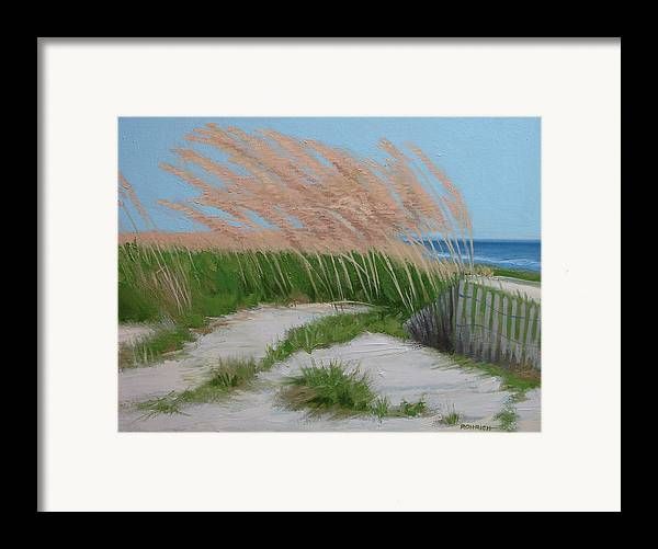 Ocean Dunes Framed Print featuring the painting Sand Dunes No 2 by Robert Rohrich