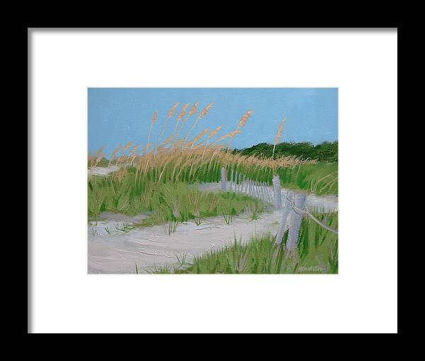 Sane Dunes Framed Print featuring the painting SAND DUNES No. 3 by Robert Rohrich