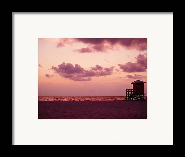 Sunset Framed Print featuring the photograph Sand Key Sunset by Milton Brugada