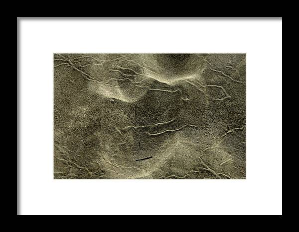Sand Framed Print featuring the photograph Sand Painting by Donna Blackhall