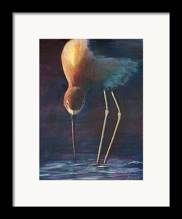 Beach Framed Print featuring the painting Sand Piper by Sylvia Stone