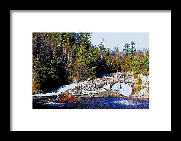 Boulder Framed Print featuring the photograph Sand River Falls by John Turner
