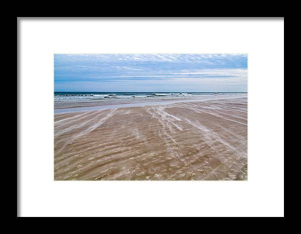 St Augustine Framed Print featuring the photograph Sand Swirls On The Beach by John M Bailey