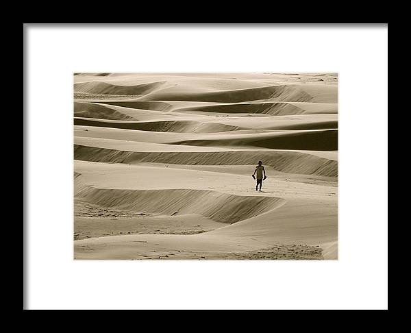 Scenic Framed Print featuring the photograph Sand Walker by Mark Lemon