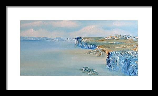 Impressionism Framed Print featuring the painting Sandbar by David Snider