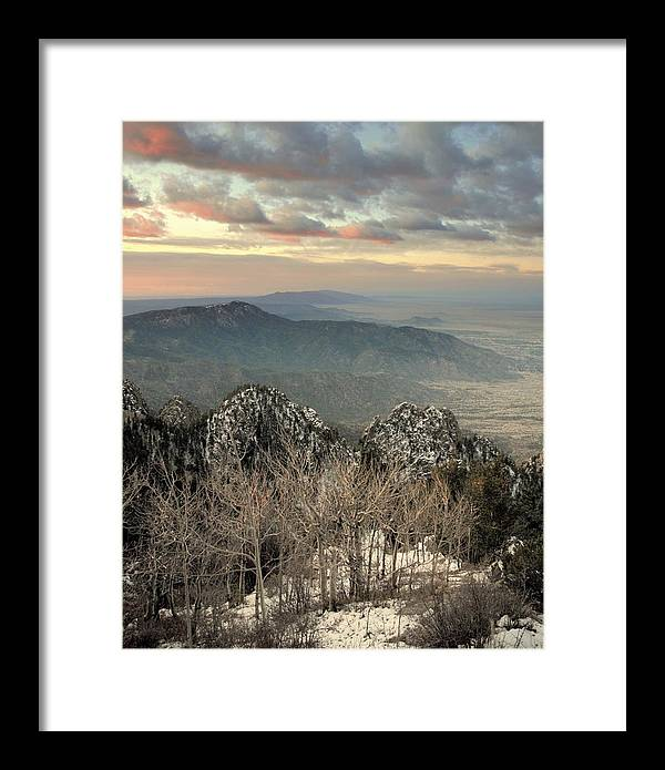 Sandia Mountains Framed Print featuring the photograph Sandia Happening.. by Al Swasey