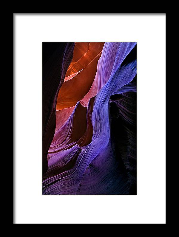 Sandstone Framed Print featuring the photograph Sandstone Cascade by Mike Dawson