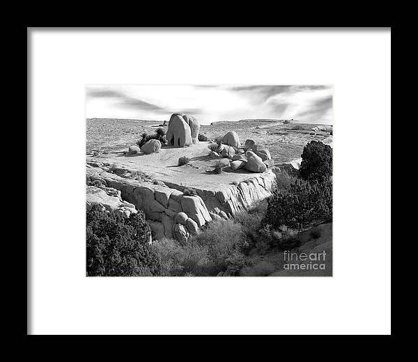 Original Framed Print featuring the photograph Sandstone Plateau by Christian Slanec