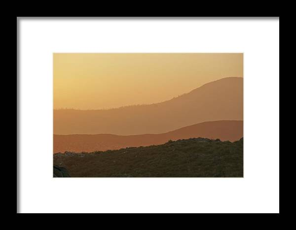 Sandstorm Framed Print featuring the photograph Sandstorm During Sunset On Old Highway Route 80 by Christine Till