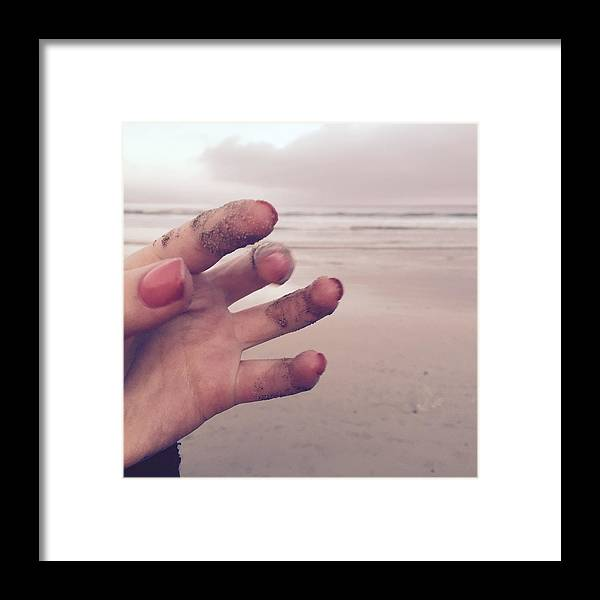 Photograph Framed Print featuring the photograph Sandy Fingers by Kelly Jade King