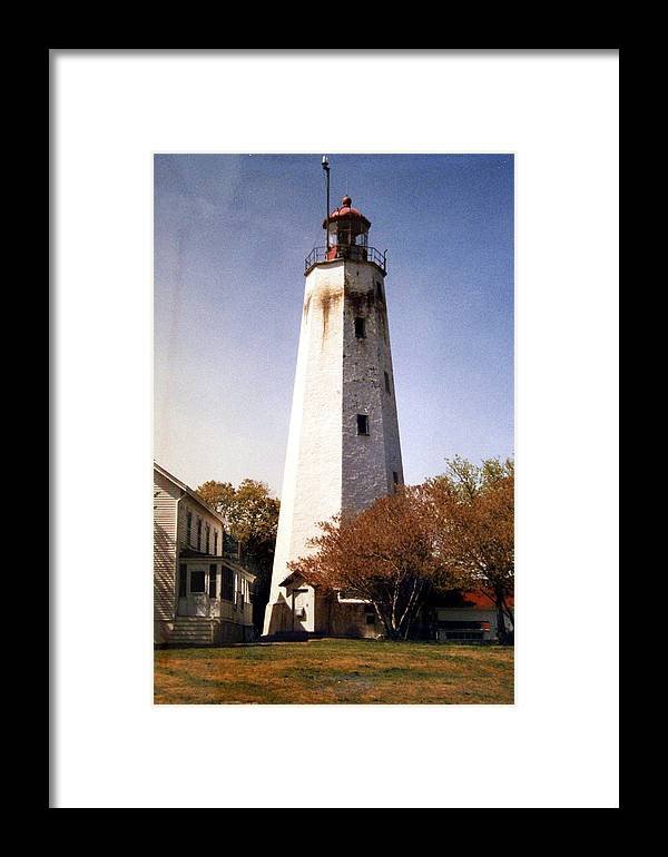 New Jersey Lighthouses Photographs Framed Print featuring the photograph Sandy Hook Lighthouse by Frederic Kohli