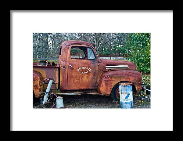 Framed Print featuring the photograph Sanford and Son Salvage 1 by Douglas Barnett