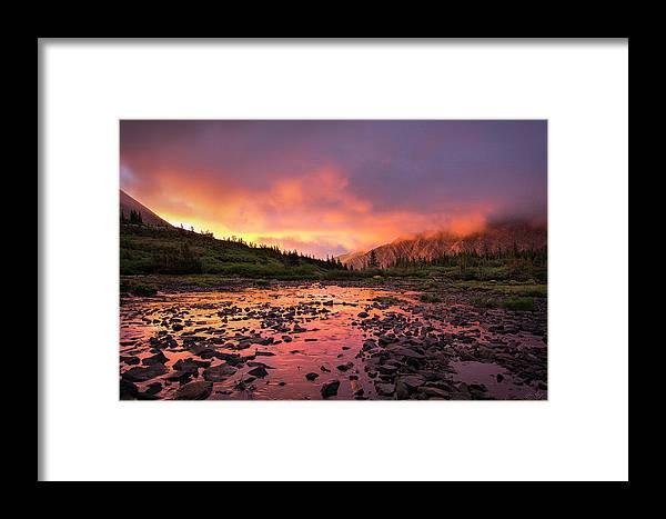 Sangre De Cristo Framed Print featuring the photograph Sangre De Cristo Sunrise by Aaron Spong