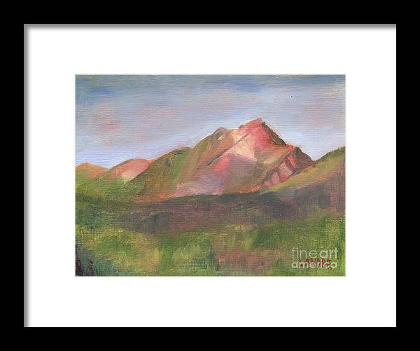 Colorado Framed Print featuring the painting Sangres I by Lilibeth Andre