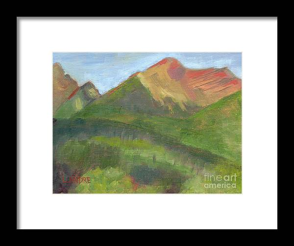 Colorado Framed Print featuring the painting Sangres II by Lilibeth Andre