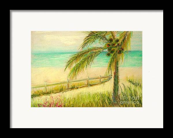 Landscape Framed Print featuring the painting Sanibel Breeze      Copyrighted by Kathleen Hoekstra