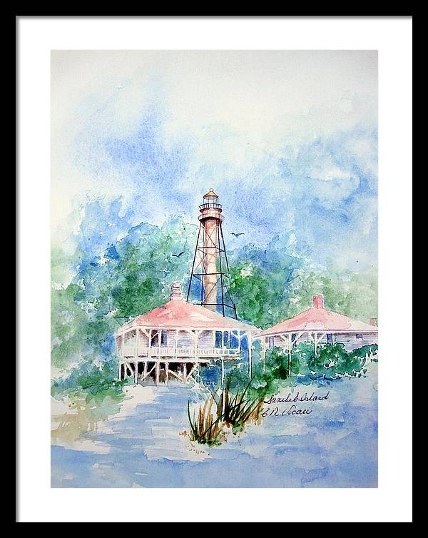Sanibel Island Lighthouse by Ernestine Vicari Stafford