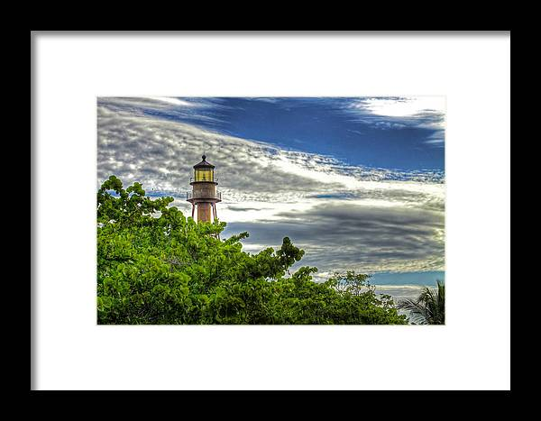 Lighthouse Framed Print featuring the photograph Sanibel Island Lighthouse by Joe Paniccia