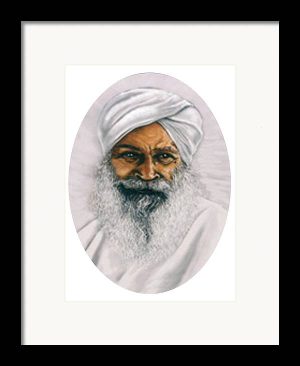 Pastels Framed Print featuring the painting Sant Kirpal Singh by Winifred Ann Weishampel