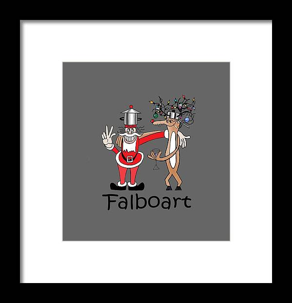 Santa Framed Print featuring the painting Santa by Anthony Falbo