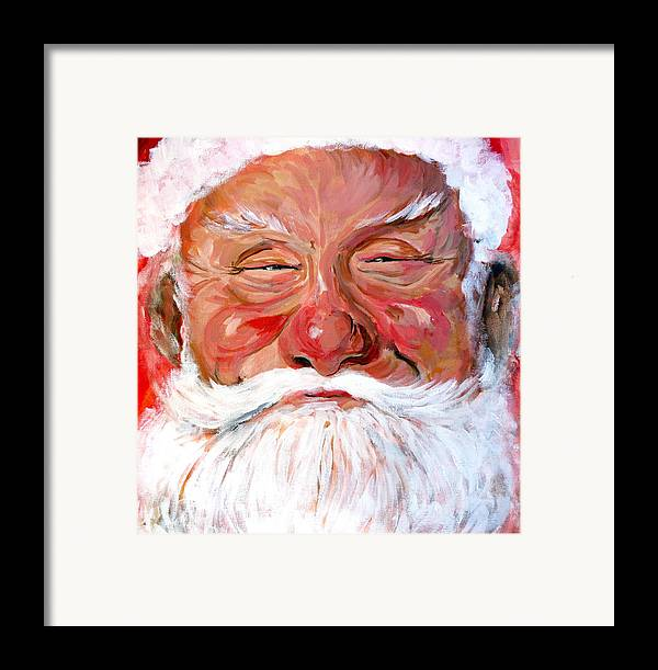 Santa Framed Print featuring the painting Santa Claus by Tom Roderick