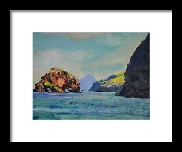 Santa Cruz Island Framed Print featuring the painting Santa Cruz Island by Richard Willson
