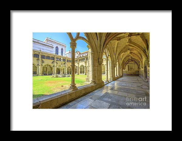 Coimbra Framed Print featuring the photograph Santa Cruz Monastery by Benny Marty