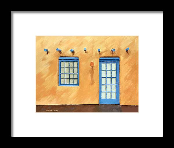 Architecture Framed Print featuring the painting Santa Fe 5 by Tod Wallace