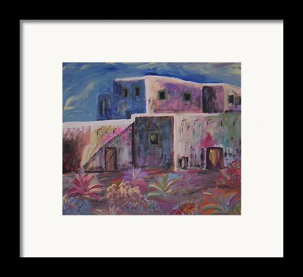 Landscape Framed Print featuring the painting Santa Fe Dreams by Lindsay St john