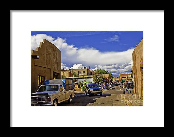 Santa Fe Framed Print featuring the photograph Santa Fe Plaza 2 by Madeline Ellis