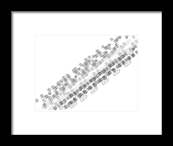 Abstract Framed Print featuring the digital art Santa Footprints by Lenka Rottova