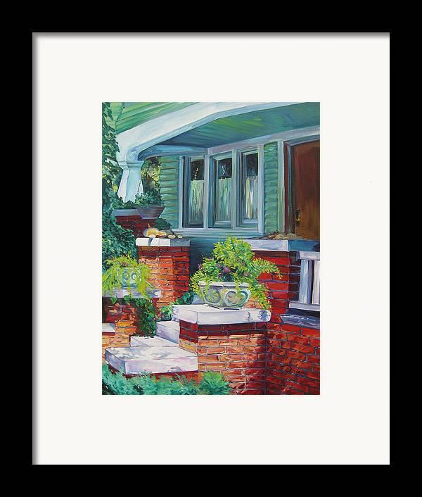 House Framed Print featuring the painting Santa Monica Beach House by Karen Doyle