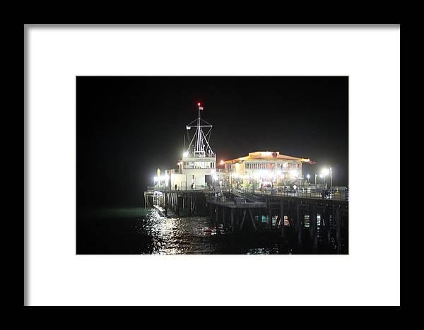 Santa Monica Framed Print featuring the photograph Santa Monica Pier 0719 by Edward Ruth