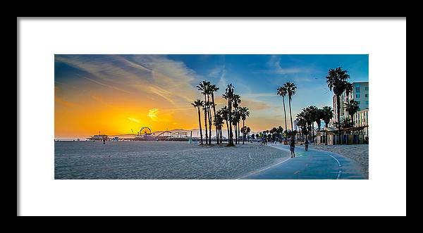 Los Angeles Framed Print featuring the photograph Santa Monica Sunset by Az Jackson