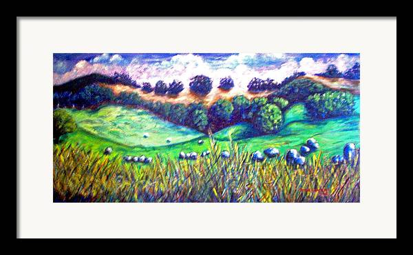 Landscape Framed Print featuring the painting Santa Rosa Plateau by Steve Lawton