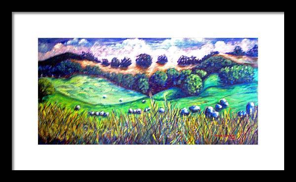 Landscape Framed Print featuring the painting Santa Rosa Plateau by Steve Lawton