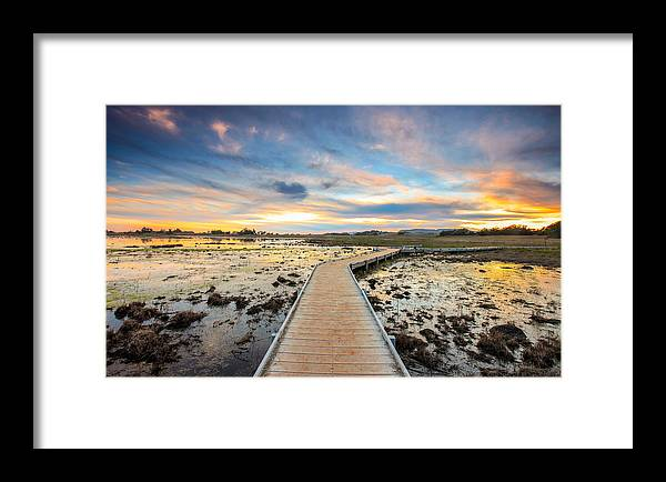 Plateau Framed Print featuring the photograph Santa Rosa Plateau Vernal Pool by Robert Aycock