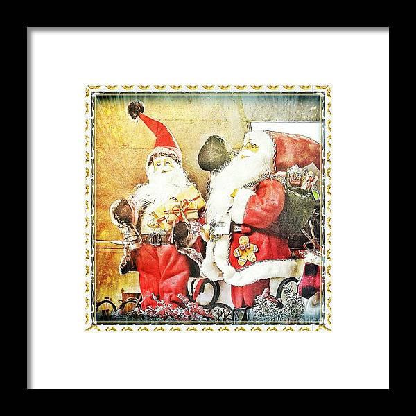 Santa Framed Print featuring the photograph Santa Scene 2 by Rachel Hannah