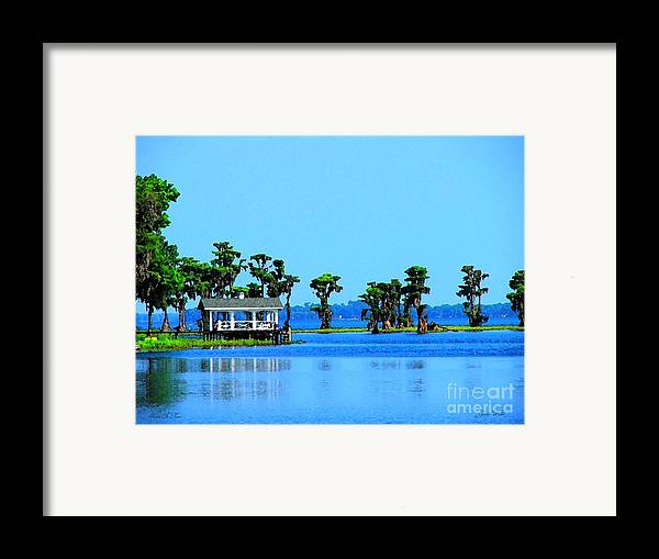 River Framed Print featuring the photograph Sante Fe River In Watercolor by Judy Waller