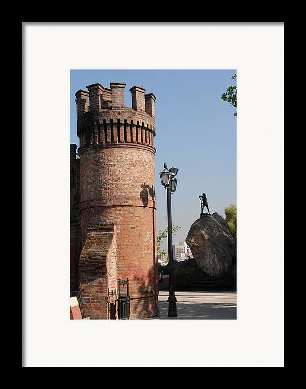 Red Castle Framed Print featuring the photograph Santiago by Charles Ridgway