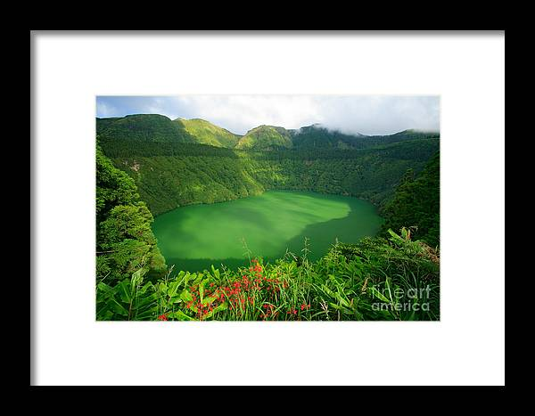 Azores Framed Print featuring the photograph Santiago Lake by Gaspar Avila