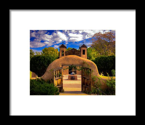 New Mexico Framed Print featuring the photograph Santuario De Chimayo by Dennis Herzog